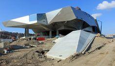 Opening 2014 - Musée des Confluences, Lyon, France - Coop Himmelb(l)au Deconstructivism, Cultural Architecture, Himmelblau, Futuristic, Construction, Building, Travel, Lyon France, Perception