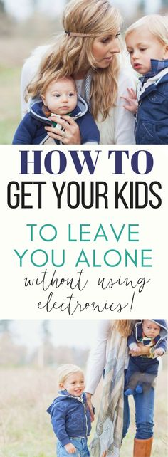 Sometimes it feels like your kids will never leave you alone! I used to rely only on the tv to get anything done, but now I've found a way to keep my kids busy and leave me alone for enough time to get something done!