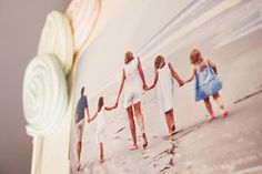 Coastal Couture Photo Shoot :: TIP 2 of 10 :: Have photographer or kindly beach-goer take a picture of your family walking towards the camera and walking away.  These images lend themselves well to the introduction and close of your photo book. ♥