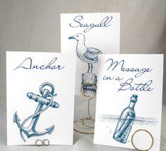 Nautical Wedding Table Cards  Beach Seashell by WeddingMonograms, $3.50