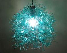 Reciclando... Luminária pet pronta e em uso, super estilo para decorar