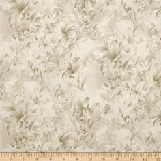 """118"""" Wide Day Lily Quilt Backing Floral Cream from @fabricdotcom. $15.98 yard  Designed for Fabri-Quilt, this 118'' wide quilt backing is perfect for adding just the right finishing touch to your quilts as well as duvets, pillows, dust ruffles, light curtains and more! Colors  include shades of cream."""