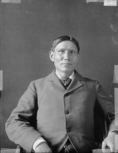 Image of Charles Eastman: sent away to assimilate into white culture as a boy and became a doctor and advocate for indian rights. he was instrumental in helping after the battle of wounded knee.