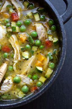 Simple Lemony Chicken (need to sub) & Spring Veggie Soup #VEGANIZE