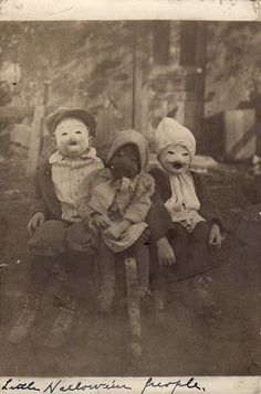 Early 1900's Halloween Costumes...so not cute, I'll take Buzz Lightyear any day....