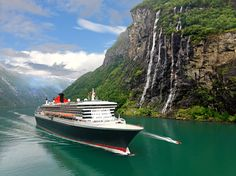 Cunard Line, Queen Mary Geiranger Fjord Cruise Travel, Cruise Vacation, Cruise Destinations, Royal Caribbean, Cunard Cruise Line, Cunard Ships, Biggest Cruise Ship, Best Cruise Lines, Ocean Cruise