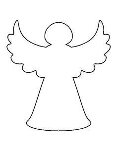 A te gabarit - Sophia We Christmas Tree Angel, Felt Christmas Ornaments, Christmas Art, Christmas Projects, Christmas Decorations, Christmas Tree Pattern, Clay Ornaments, Christmas Ideas, Christmas Stencils