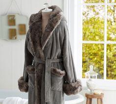 Cozy Fur Robe - Chinchilla | Pottery Barn