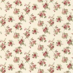 Dainty Cabbage Rose Cottage Floral Wallpaper