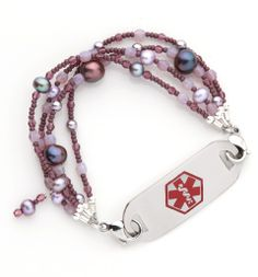 Lilac Champagne Medical ID Bracelet from Lauren's Hope. #laurenshope #medicalID #laurenshopeID