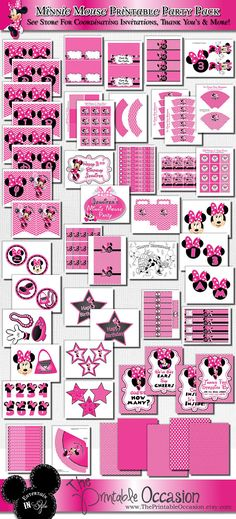 Minnie Mouse Birthday Decorations Pink Minnie Mouse Party