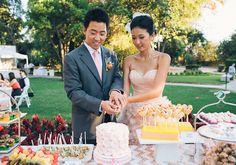 Sparkly pink wedding: Sunah + David | Real Weddings | 100 Layer Cake