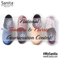 Enter @SanitaFootwear TWITTER EXCLUSIVE contest for you to have a chance to win Sanita clogs! |   #MySanita #clogs #teacher #nurse #contest #exclusive