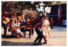 CHILE La Cueca Chilean folk dancers