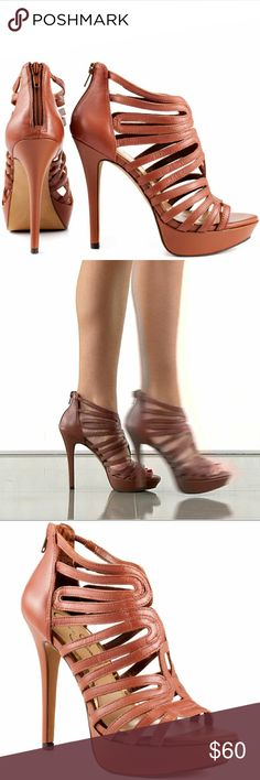 *NEW* Jessica Simpson Barbara Heels New in Original Box Jessica Simpson Barbara Heels Size: 7.5  Color: Mocha Lisa Sheep (1st pic shows color best) Beautiful strappy heel by Jessica Simpson. The Barbara brings you a multiple strap upper, complete with a back zipper for a no hassle fit. Mocha leather covers the silhouette from 5inch heel to 1 1/4inch platform. -leather upper -back zipper -open tie -fits true to size Imperfections: -pic#7 very small mark on back on back of right heel -pic#8…