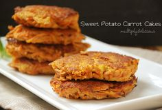 Multiply Delicious- The Food | Sweet Potato Carrot Cakes