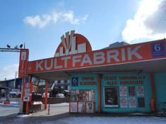 Kultfabrik Munich - a place with 25 clubs in one location. Kultfabrik means factory of culture (?)