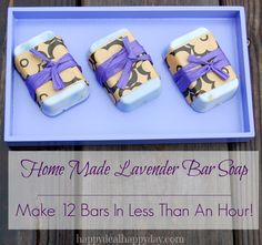 EASY Lavender Homemade Soap Recipe | Great Gift Idea! happydealhappyday.com