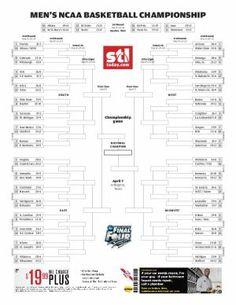 Printable bracket for NCAA tournament