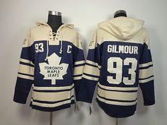 Toronto Maple Leafs 93 Doug GILMOUR Lace-Up Jersey Hooded Sweatshirt Soccer  Jerseys 288e40378
