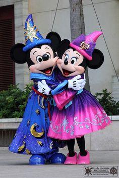 Mickey and Minnie ~ Fantasia, Walt Disney World Walt Disney, Disney Love, Disney Magic, Mickey Mouse And Friends, Mickey Minnie Mouse, Chateau Disney, Disney Parque, Disney World Characters, Disney Costumes
