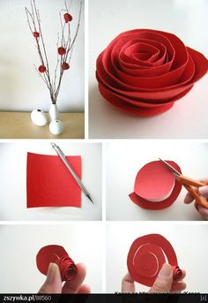 DIY, handmade papr rose 2