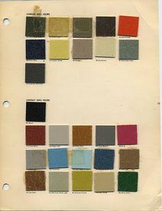 Mad for Midcentury: Authentic Mid-Century Ranch Exterior Colors. Original Eames fiberglass colors.