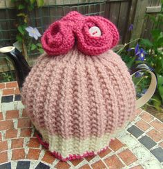 Flower Tea Cosy by LittleDaisyKnits on Etsy