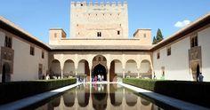 Inside Alhambra, Granada, Spain