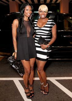 Basketball Wives star Jennifer Williams and RHOA star NeNe Leakes from @Bravo TV