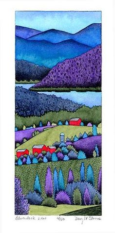 Adirondack View. Daryl Storrs | art | Pinterest | Vermont, Watercolor Techniques and Naples