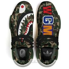 I think these are different then the other one but they are both dope af. Sooo um I think you can check the adidas website. Me Too Shoes, Men's Shoes, Shoes Sneakers, Custom Sneakers, Custom Shoes, Hype Shoes, Fresh Shoes, A Bathing Ape, Bape