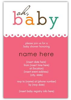 baby shower invite- printable