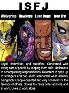Marvel personality types