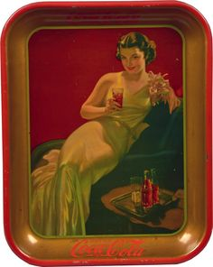 Coca Cola Tin Serving Tray c1936 : Lot 949E