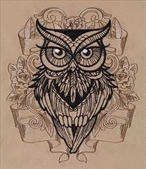 Urban Threads: Unique and Awesome Embroidery Designs ........................owl