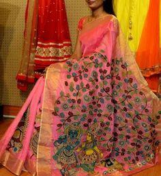 Beautiful kalamkari saree