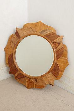 Lotus Wood Mirror