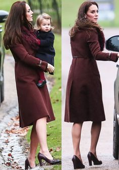 The Duchess of Cambridge arrives at St. Mark's Church in Englefield, London on December 25, 2016