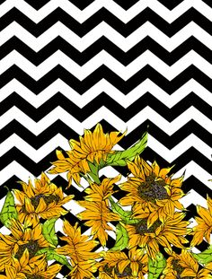 A sunflower is a representation of me. Screen Wallpaper, Wallpaper S, Pattern Wallpaper, Wallpaper Backgrounds, Chevron, Beautiful Textures, Cute Wallpapers, Iphone Wallpapers, Print Patterns