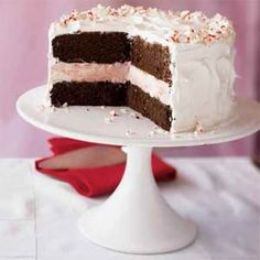 Peppermint Ice Cream Cake | MyRecipes.com