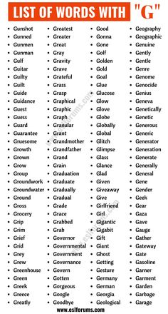 Words that Start With G | List of 140+ Common Words Starting with G