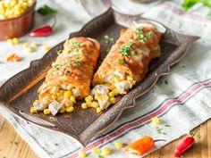Hühnchen in der Rolle: Chicken Enchiladas