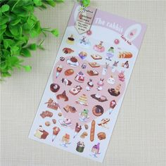 1 Pc / Pack  Daisyland The Rabbit Fairy Tale Diary Gallery Stationery Letter Decorative Paper Sticker Decoration