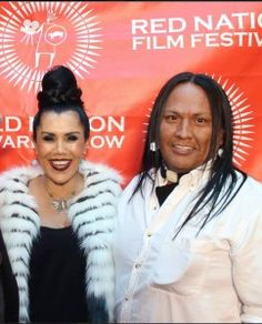 Joanelle Romero and Arthur Red Cloud