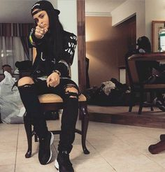 """""""Reasons to be gay: Kehlani Parrish pt. Tomboy Fashion, Tomboy Outfits, Dope Fashion, Dope Outfits, Fashion Killa, Urban Fashion, Casual Outfits, Fashion Outfits, Womens Fashion"""