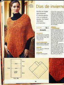 Womens poncho khaki knitwear w Crochet Scarves, Crochet Shawl, Crochet Clothes, Crochet Stitches, Knit Crochet, Poncho Shawl, Knitted Poncho, Poncho Design, Mode Abaya
