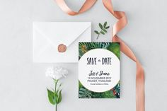 Items similar to Tropical Floral Printable Save the Dates Floral Printables, November 2019, Save The Date, Etsy Store, Invitations, Digital, Handmade Gifts, Design, Kid Craft Gifts