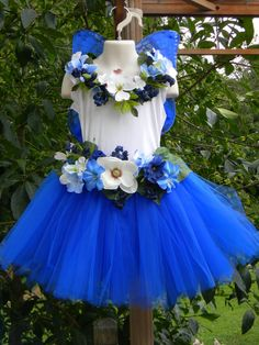 BRAND NEW FOR 2013 - Royal Blue Monarch Butterfly Fairy Costume Accessory Kit (Size 4/6)
