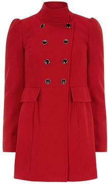 Red funnel neck coat on shopstyle.com